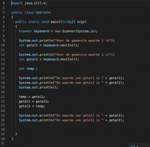 Een stukje Java Code